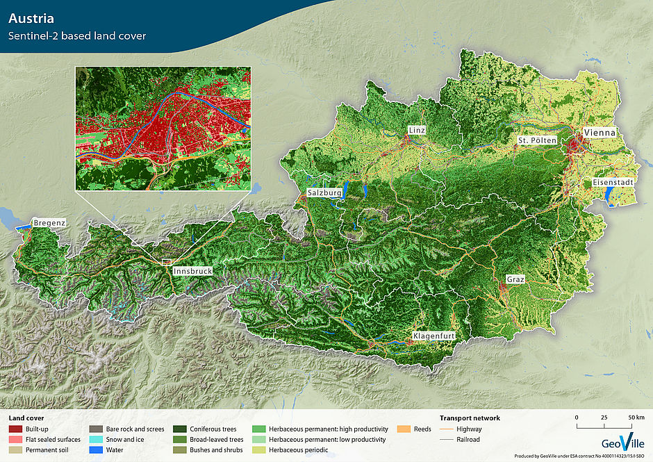 First, validated Sentinel-2 based land cover map